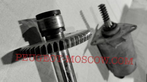 Износ шестерни вала подъема клапанов двигателя EP6 Пежо 308